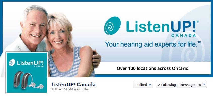 ListenUp Canada Facebook Cover