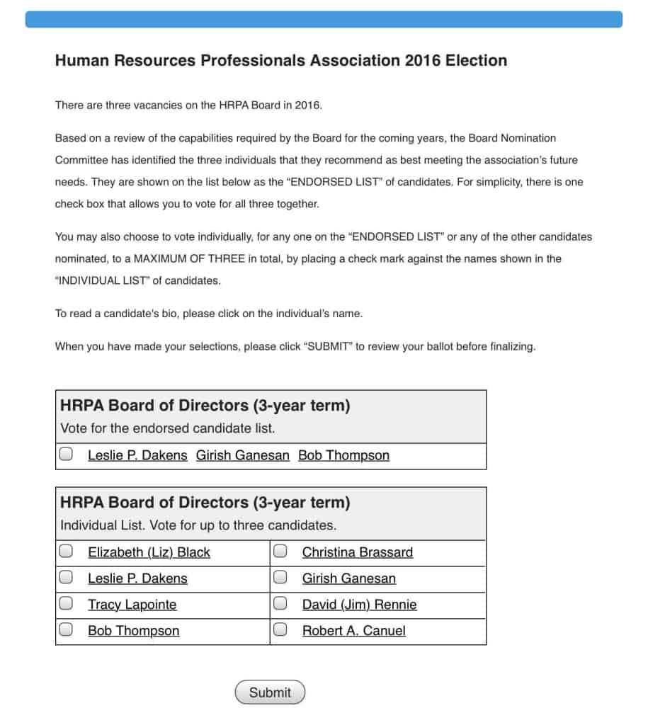 HRPA Executive Board Nominees Screenshot_2016